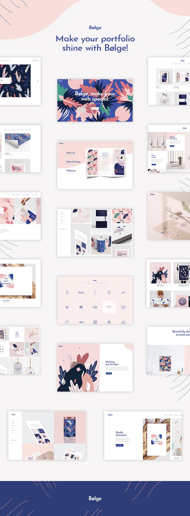 Bolge - Artist & Designer Portfolio Theme - 1
